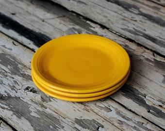 """Fiestaware vintage 7"""" plates 3 total"""