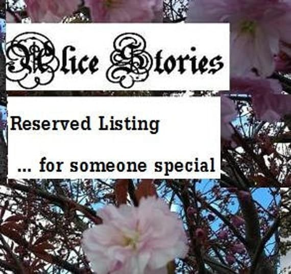 RESERVED listing for Mairi Rendall