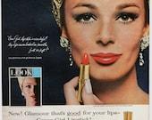 Vintage Ad Cover Girl Lipstick Cosmetics 1964 Look Magazine