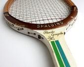Vintage Tennis Racket Pancho Gonzales 1970s Spalding