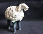 Home decor-and-white sheep.
