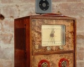 ipod iphone docking station with speakers from vintage tube clock radio