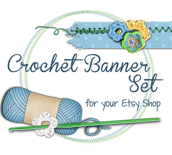 Crochet Etsy Shop Banner - banners, profile picture, avatar, reserved & special order