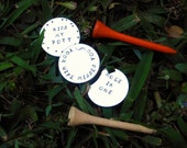 Personalized Hand-Stamped Golf Ball Markers- Wedding, Groomsmen Gift, Mens Gift, Unique Gift, Father's Day, stocking stuffer, Christmas
