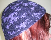 SALE ITEM  Reversible, Knitted Skull and Crossbones Hat.