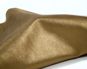 RESERVED to Valeria - Leather hide glittering bronze soft lambskin metallic 3.3 ft square feet - light weight COD265