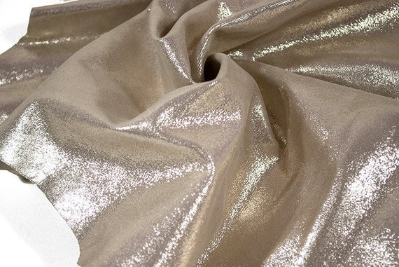 RESERVED to Mirtylle - Lambskin hide gold metallic sequin 4 ft square feet COD66