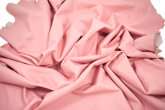 lambskin pink Leather butter soft pastel 10 ft square feet cod208