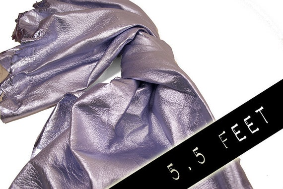 RESERVED to Valeria - 2 x Leather hide silver matt lambskin 5.5 ft square feet COD228