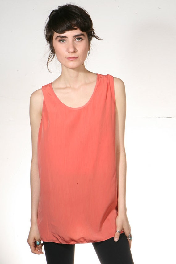 90s SILKY slouchy oversize tank top