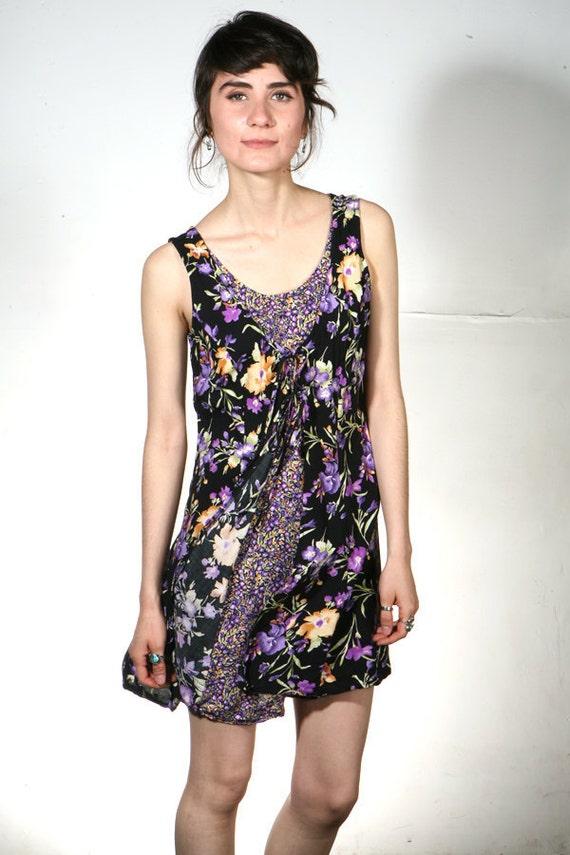 90s GRUNGE floral romper dress jumper