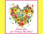 Etsy Shop Thank You Badge - Spring Festive Colors