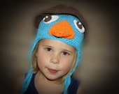 Perry the Platypus & Agent P EASY Crochet PDF Pattern - Infant, Child, Tween, Adult Sizes. Sale- Buy 2 patterns, Get 1 FREE.