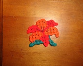 Orange Lilly Flower Magnet