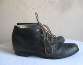 Womens Ariat Black Leather Ankle Booties 6.5 Vintage Lace ups