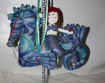 Marina the Mermaid and Coral the Carousel SeaHorse