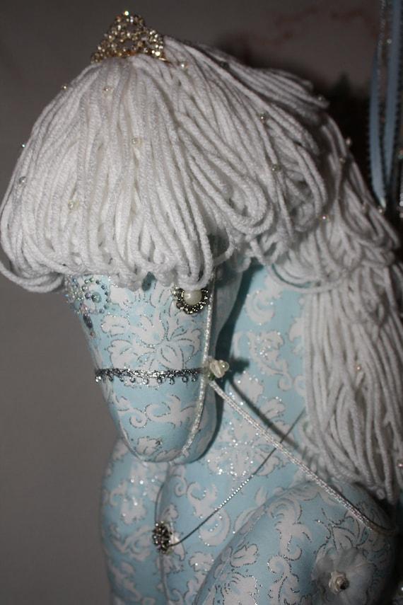 Paisley Princess Carousel Horse with beautiful Tiara