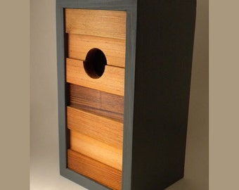 Birdhouse, modern minimalist- The Ebb and Flow