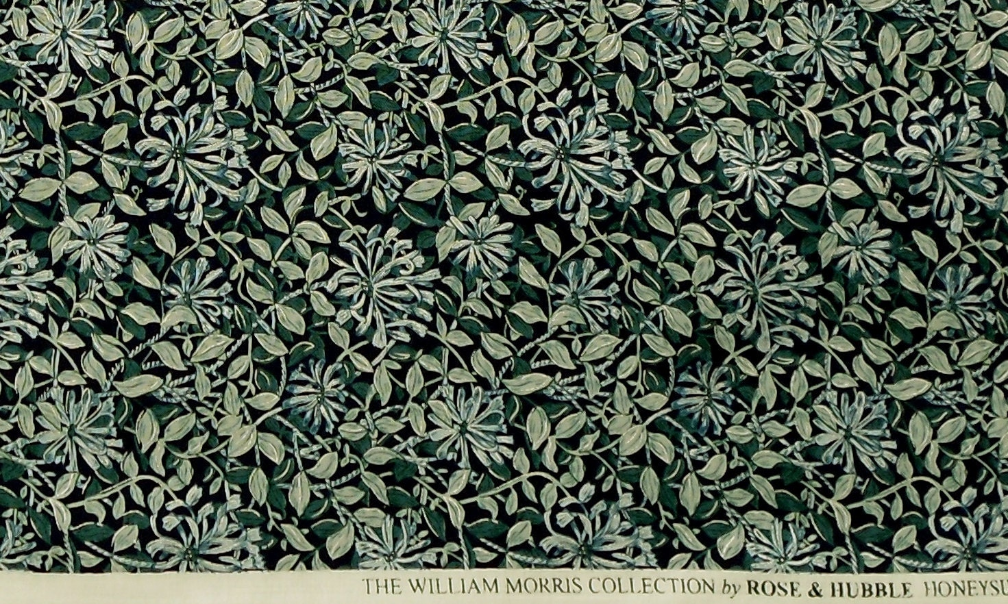 the william morris collection 1 yard of honeysuckle. Black Bedroom Furniture Sets. Home Design Ideas