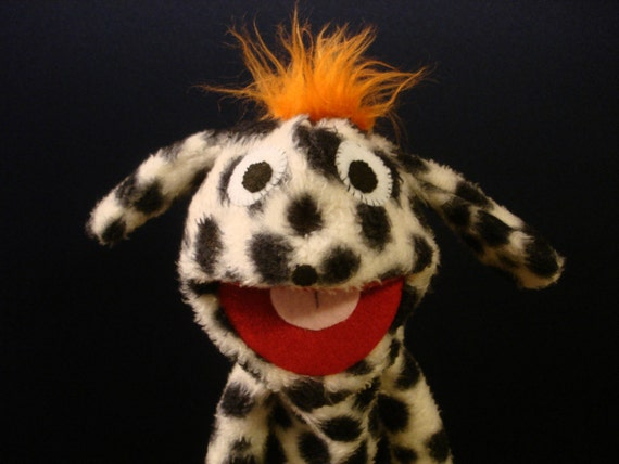 Creatures Inspired - Zeke the Dalmatian Hand Puppet