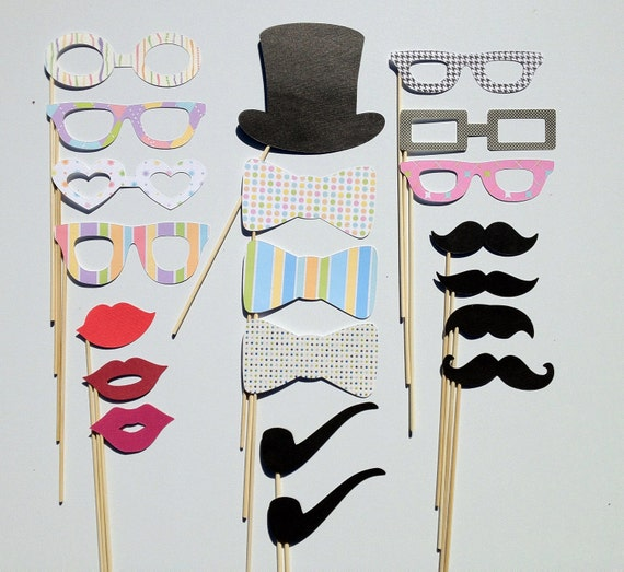 Wedding - Party Photo Booth Props Set of 20