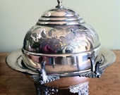 Sterling Silver Plate Butter Dish