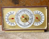 Retro Brown Thermometer, Stormoguide, and Humidity Meter by Taylor Instrument Companies