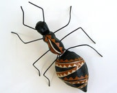 Colored paper ant, sculpture and wall decoration, Fosca bug