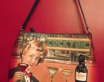 Fun and Fabulous Bold Color Vintage Retro Party Shoulder Bag