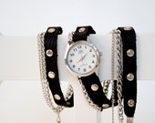 Rock Star -Leather Wraparound Watch