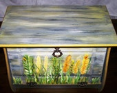 Wooden bread bin-decorative painting on wood