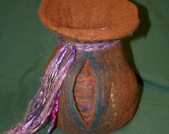 Wet Felted Vase
