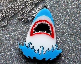 Shark necklace - laser cut acrylic