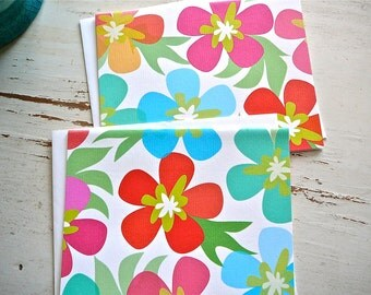 Hawaiian Hibiscus Blank Notecards - 2 Designs - Set of 8 - Fun Flowers for any occasion - Personalization Available