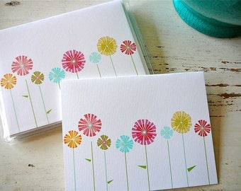Lollipop Field Blank Notecards - 1 Design - Set of 8 - Personalization Available