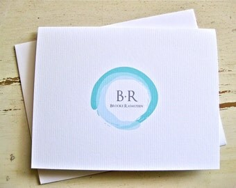 Watermark Personalized Blank Notecards - 1 Design - Set of 8