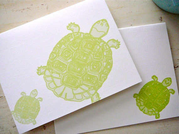 Sea Turtles Blank Notecards - 2 Designs - Set of 8 - Personalization Available