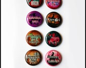 Set of 8 - One inch button magnets - Cowgirl Sayings (Lot 2)