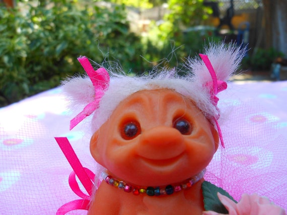 1960s BABY TROLL DOLL...Ballerina Girl Troll...Excellent Condition