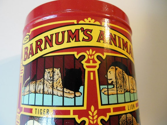 CIRCUS TIN...Animal Crackers 1979 Tin...NABISCO, Inc....Made in the United States