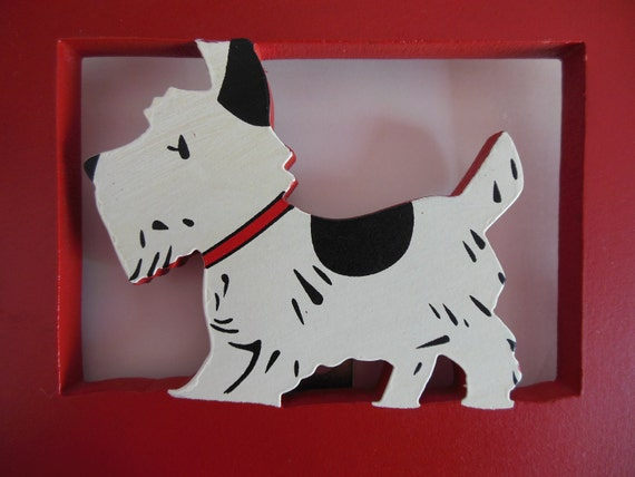 SCOTTIE DOG... Scotty Dog Rack...Sweet Collectible...Excellent Condition