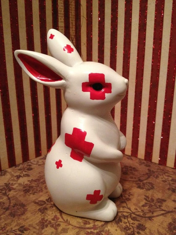 Ceramic Painted Bunny Rabbit - Boo Boo Bunny
