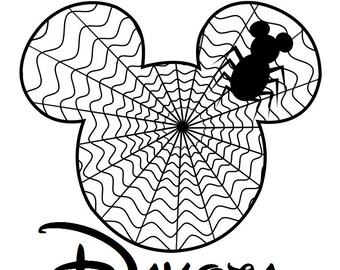 Custom Personalized Mickey Spider Web Iron on Transfer Decal(iron on transfer, not digital download)