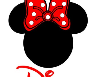 Minnie Personalized Custom Iron on Transfer Decal(iron on transfer, not digital download) Disney Iron On Matching Family Shirts with names