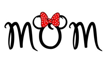 Minnie Mom Disney Custom Personalized  Iron on t-shirt Transfer Decal(iron on transfer, not digital download)