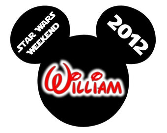 Disney TShirt Iron on Mickey Star Wars Weekend Personalized Iron on Transfer Decal(iron on transfer, not digital download)