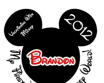 Disney Tshirt Iron on Custom Personalized 1st Trip Mickey Transfer Decal(iron on transfer, not digital download)