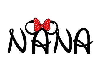 Disney Minnie-ized Nana or Nanny Custom Iron on Transfer Decal(iron on transfer, not digital download)
