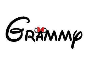 Disney Minnie-ized Grammy Grandma Custom Iron on Transfer Decal(iron on transfer, not digital download)
