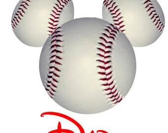 Disney TShirt Iron on BaseballMickey Personalized Iron on Transfer Decal(iron on transfer, not digital download)